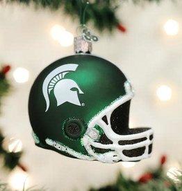 Old World Christmas Ornament MSU Helmet