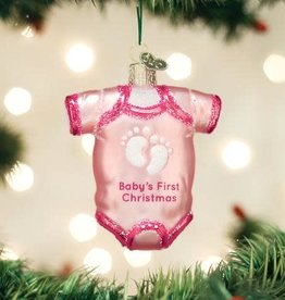 Old World Christmas Ornament Onsie Pink