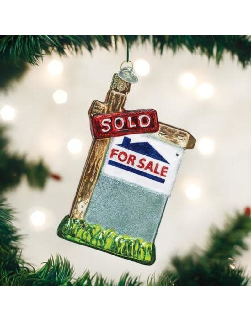 Old World Christmas Ornament Realty Sign