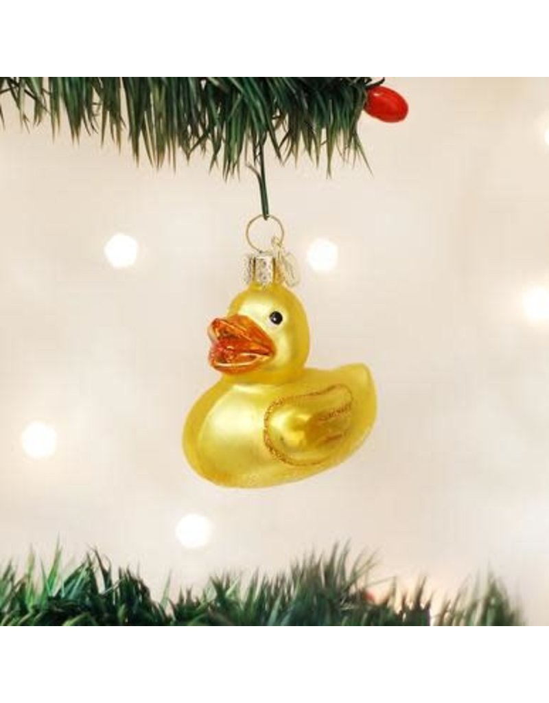 Old World Christmas Ornament Rubber Duck