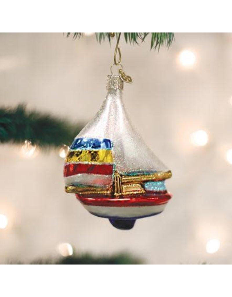 Old World Christmas Ornament Sailboat