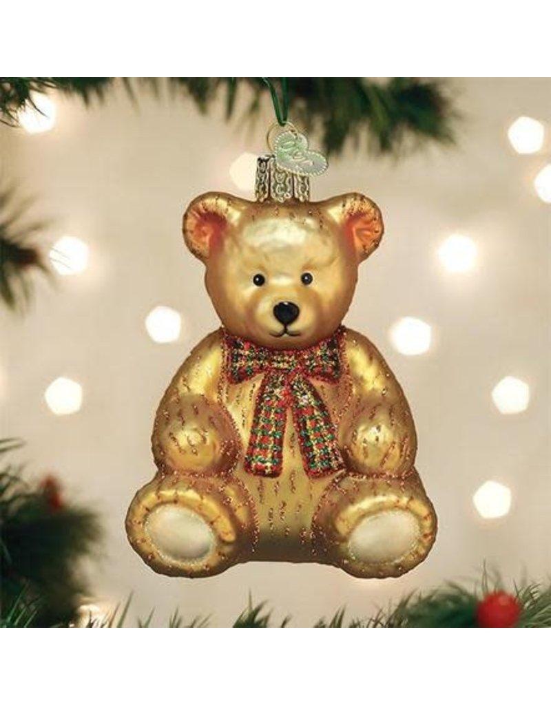 Old World Christmas Ornament Teddy Bear