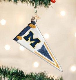 Old World Christmas Ornament University of Michigan Pennant