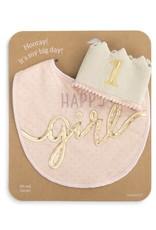 Birthday Hat/Bib Set Girl