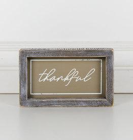 Adams and Company Wood Framed Thankful