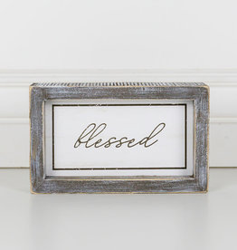 Adams and Company Wood Framed Blessed