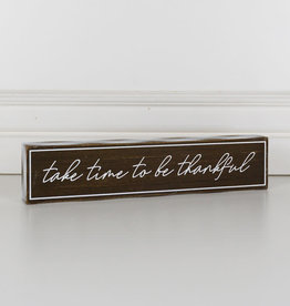Adams and Company Wood Brick Time to be Thankful