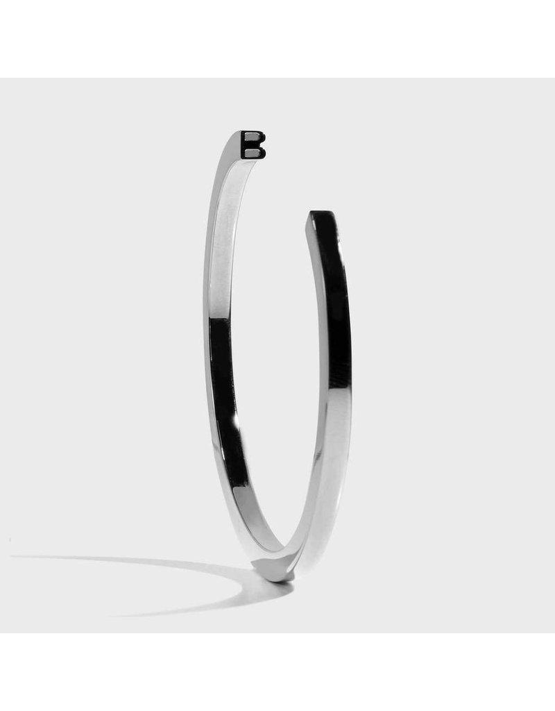 Initial Bracelet - B/SIlver