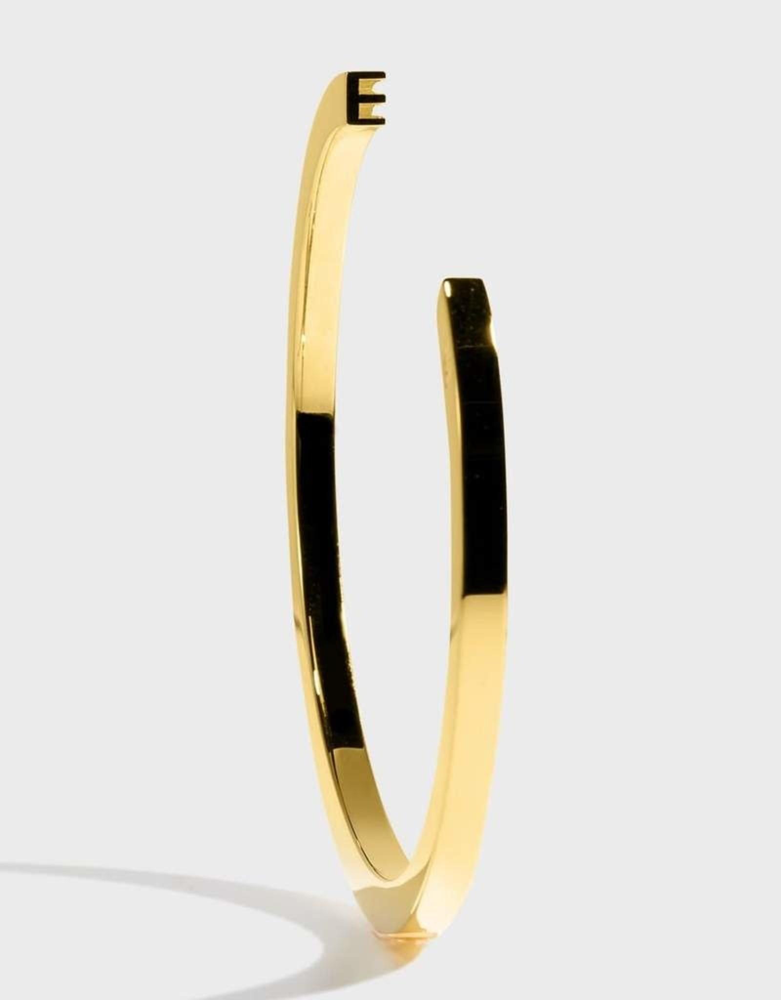 Stella Vale Initial Bracelet - E/Gold