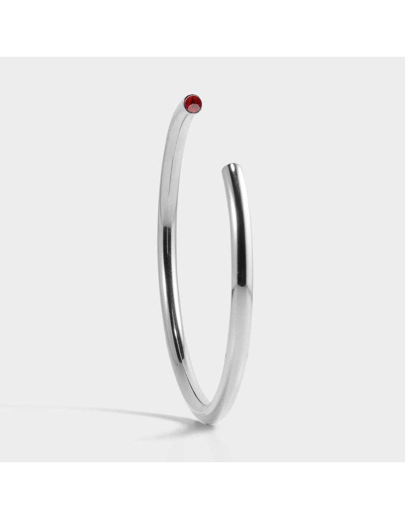Birthstone Bracelet - July/Silver