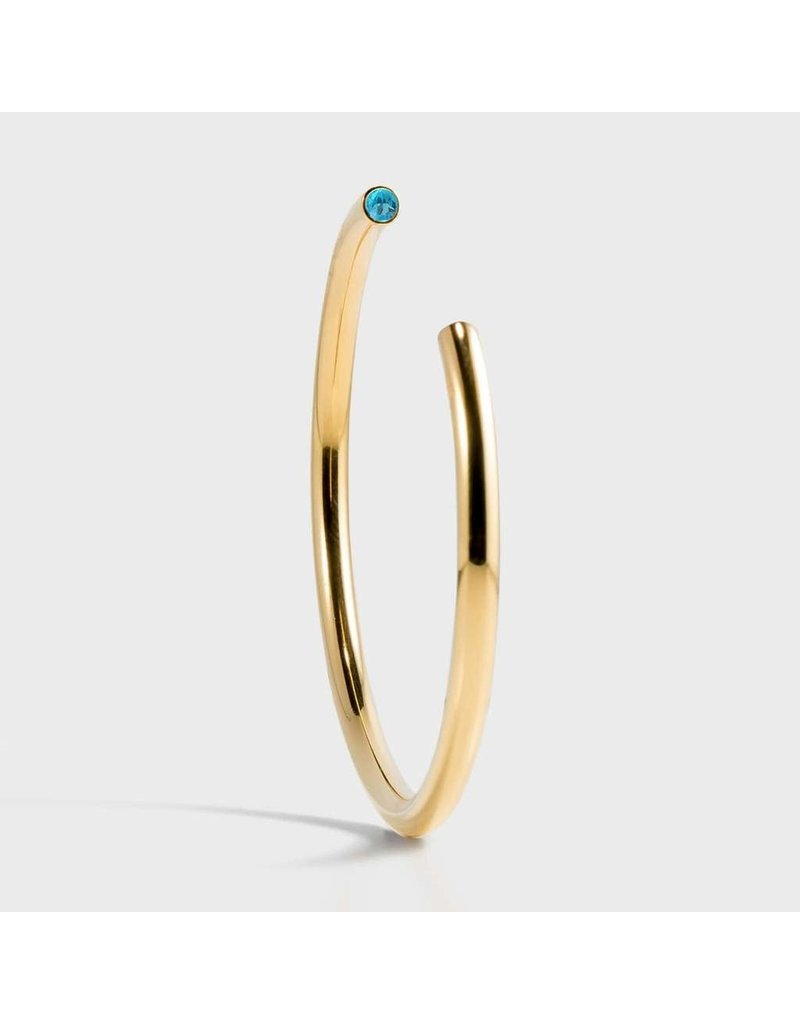 Birthstone Bracelet - March/Gold