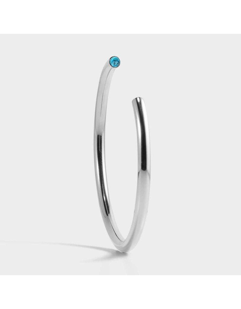 Birthstone Bracelet - March/Silver