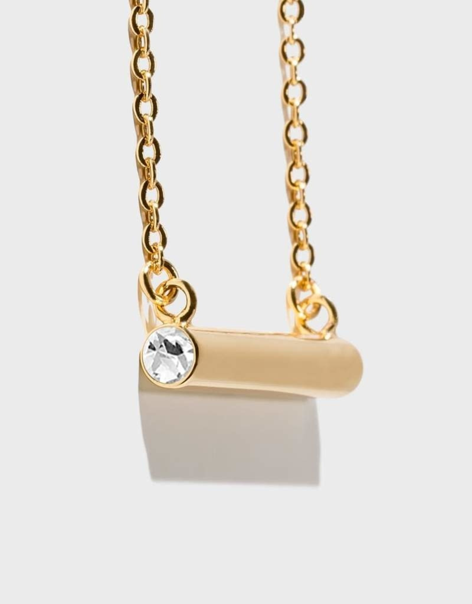 Stella Vale Birthstone Necklace - April/Gold