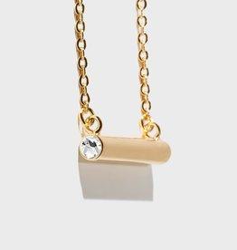 Stella Vale Birthstone Necklace - April/Gold