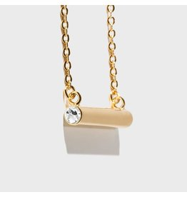Birthstone Necklace - April/Gold