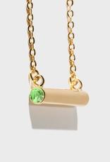 Stella Vale Birthstone Necklace - August/Gold