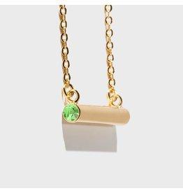 Birthstone Necklace - August/Gold