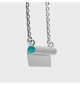 Birthstone Necklace - December/SIlver