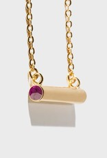 Stella Vale Birthstone Necklace - February/Gold
