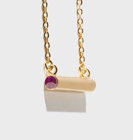 Stella Vale Birthstone Necklace - February/Gold