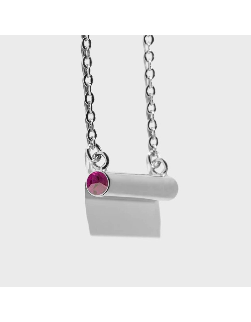Birthstone Necklace - February/Silver
