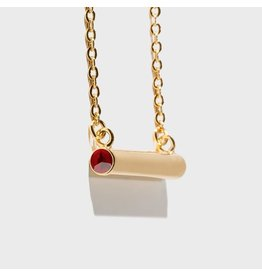 Birthstone Necklace - January/Gold