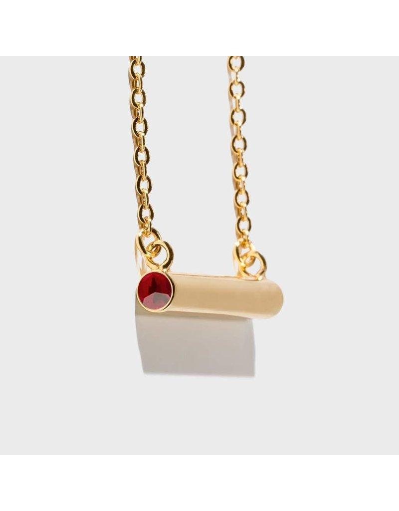 Stella Vale Birthstone Necklace - January/Gold