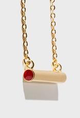Stella Vale Birthstone Necklace - July/Gold