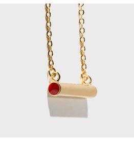 Birthstone Necklace - July/Gold