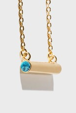Stella Vale Birthstone Necklace - March/Gold