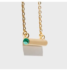 Birthstone Necklace - May/Gold