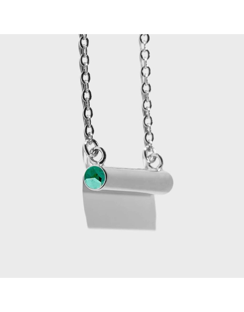 Birthstone Necklace - May/Silver