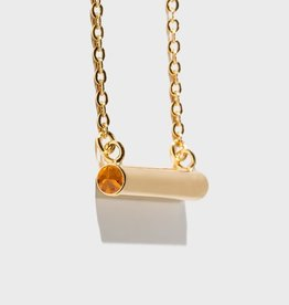 Stella Vale Birthstone Necklace - November/Gold