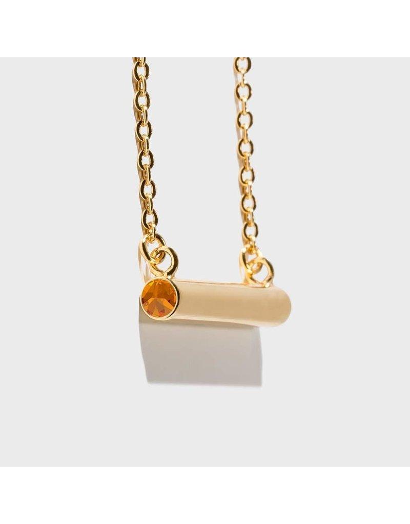 Birthstone Necklace - November/Gold