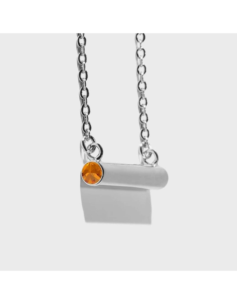Birthstone Necklace - November/Silver
