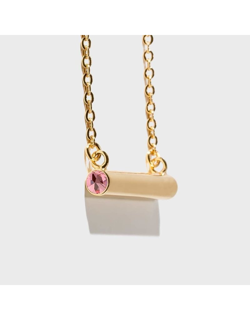 Birthstone Necklace - October/Gold