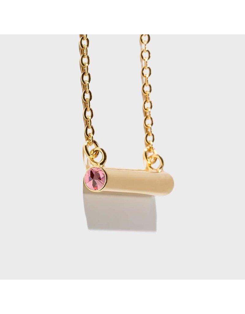 Stella Vale Birthstone Necklace - October/Gold