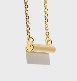 Stella Vale Symbol Necklace - Smiley/Gold