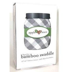 Birchwood Trading (Applesauce) Swaddle Grey Gingham