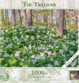 MI Puzzles (Phil Stagg Photography) 1000 Pc Puzzle Trilliums