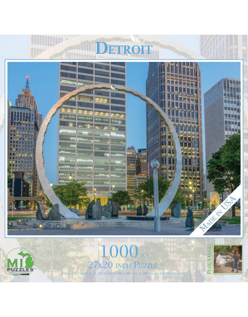 MI Puzzles (Phil Stagg Photography) 1000 Pc Puzzle Detroit