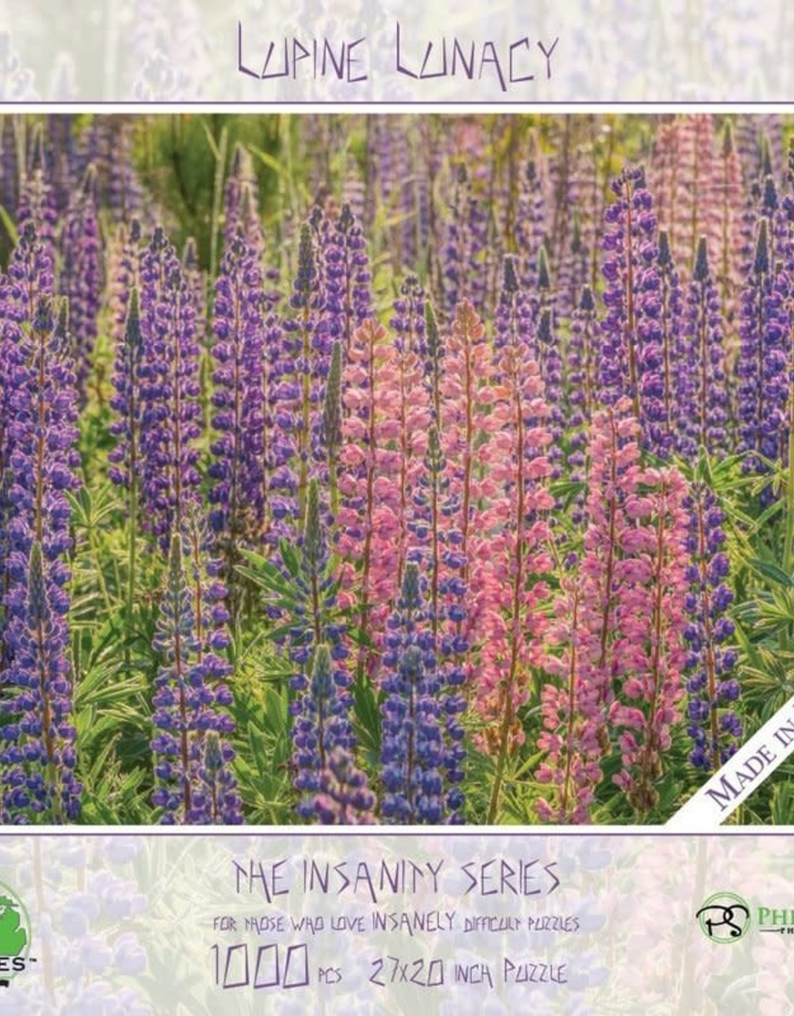 MI Puzzles (Phil Stagg Photography) 1000 Pc Puzzle Lupine Lunacy