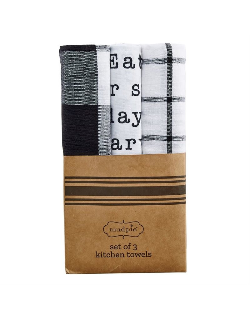 Mud Pie Circa Towel Set Today Menu