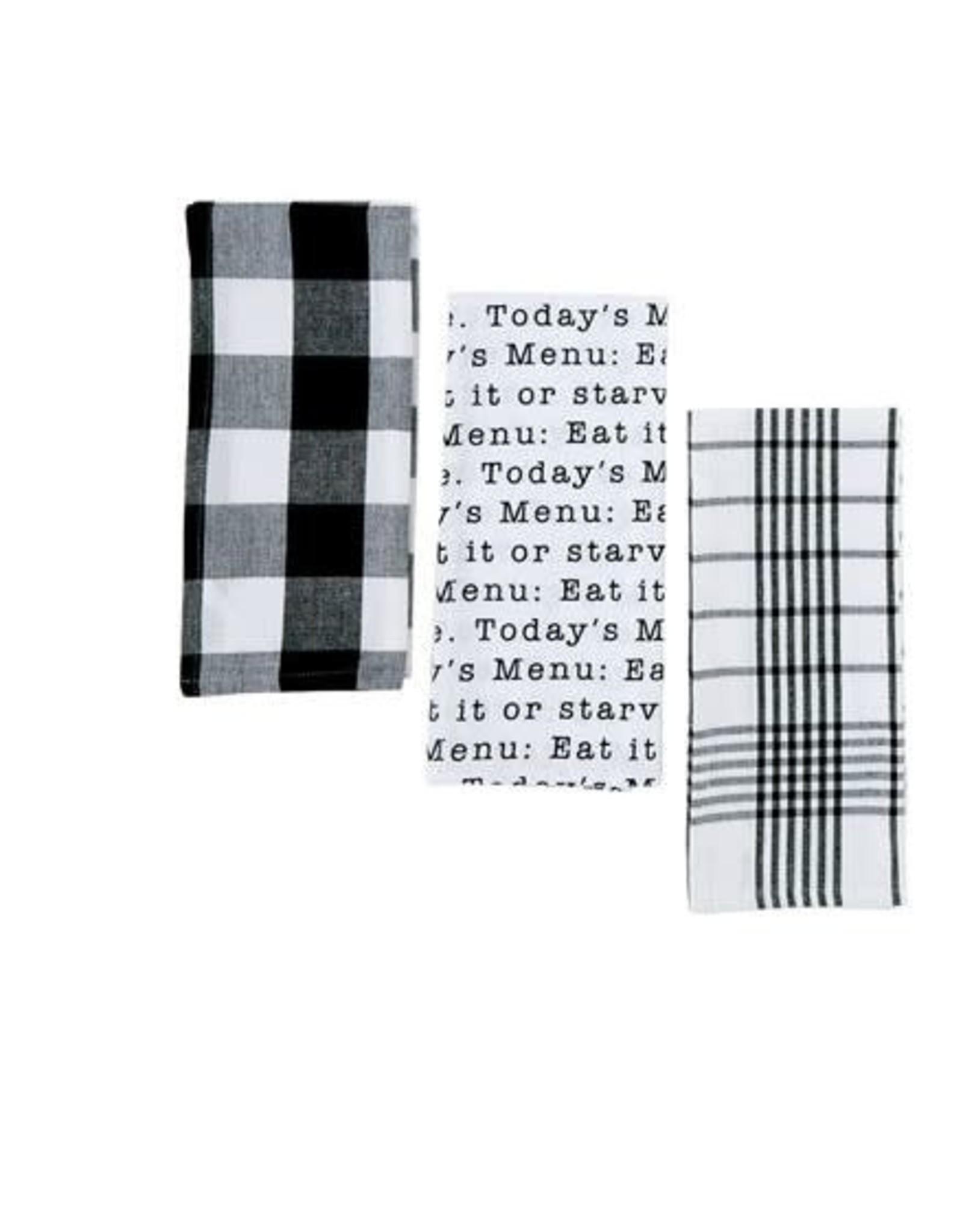 Circa Towel Set Today Menu