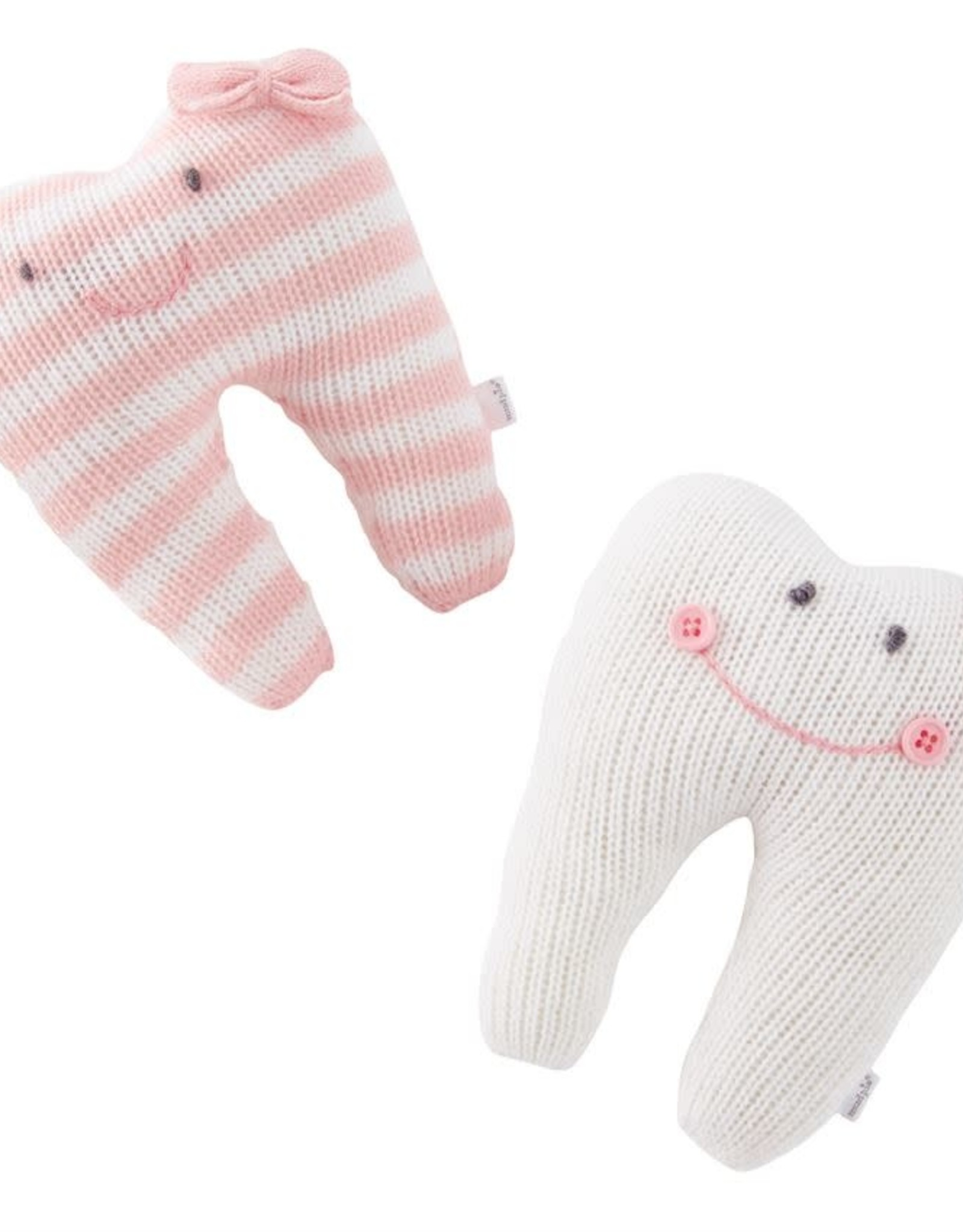 Tooth Pillow Ivory and Pink Solid