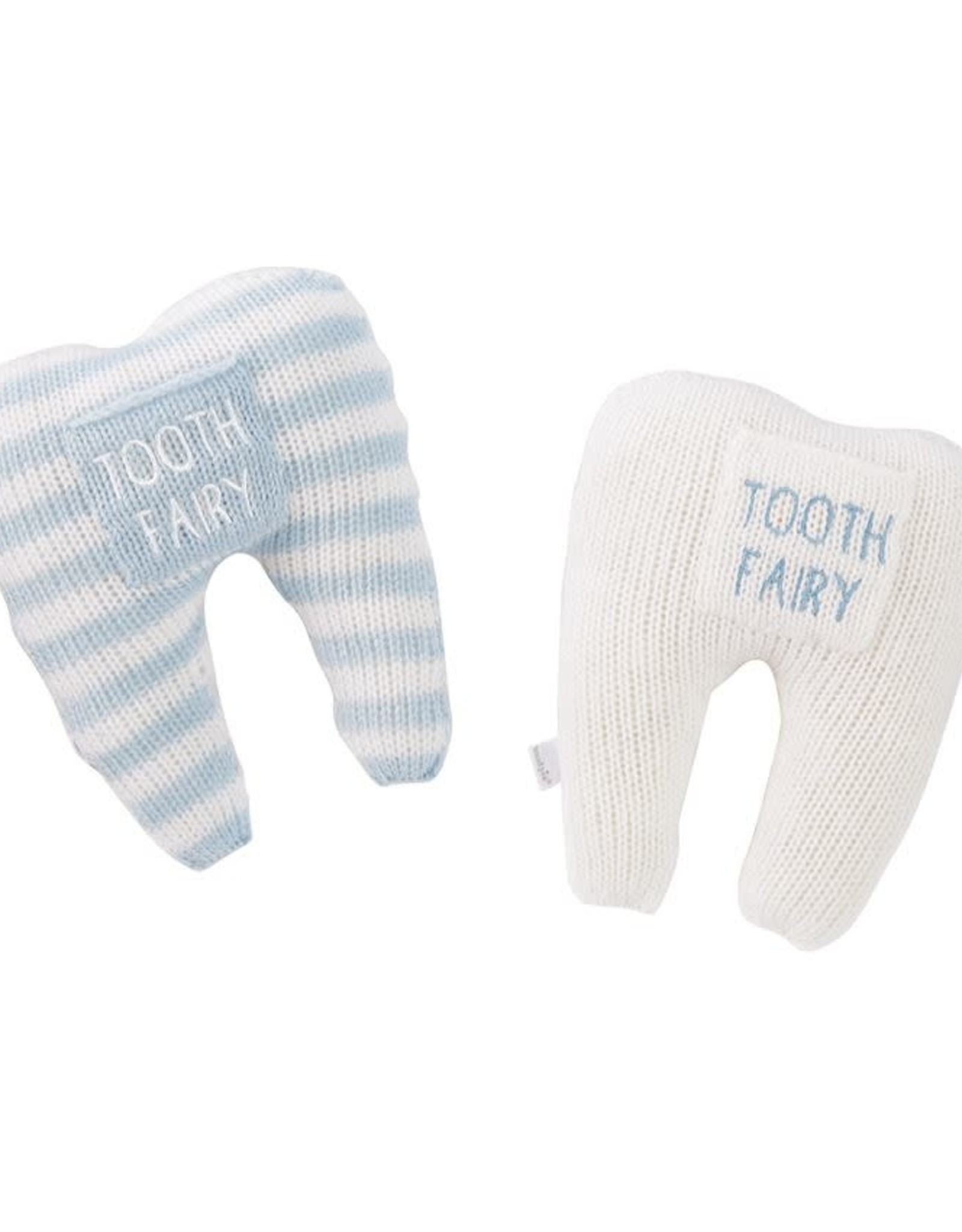 Tooth Pillow Ivory and Blue Solid