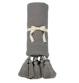 Throw Gray with Tassel