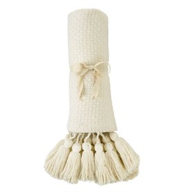 Throw White with Tassel