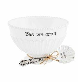 Thanksgiving Yes We Cran Dish Set