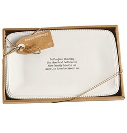 Mud Pie Boxed Sentiment Platter Give Thanks